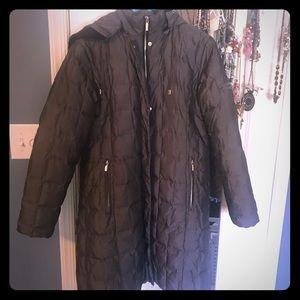 Anne Klein L puffer down winter coat jacket
